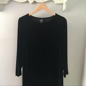 Eileen Fisher Black Velvet Casual Maxi Dress
